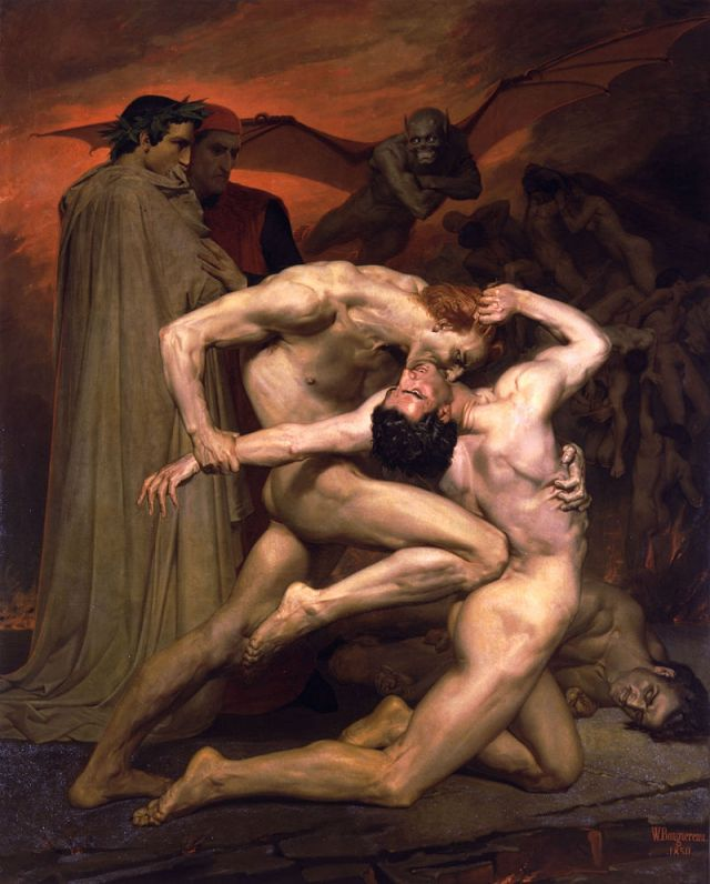 Dante and Virgil in Hell, by William Adolphe Bouguereau (1850)