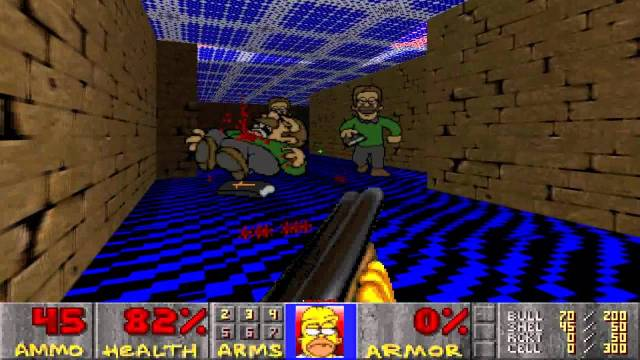 Or into Simpson Characters. Source: The Simpsons Doom 1 & 2 Total Conversion Wad.