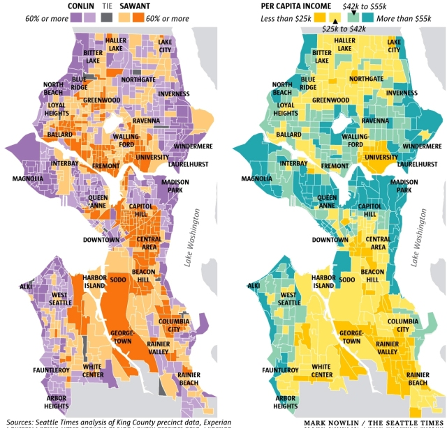 Seattle income districts
